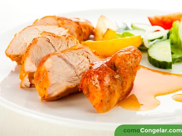 pollo asado se puede congelar